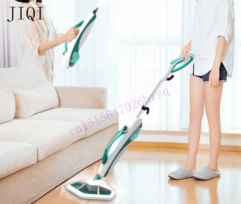 JIQI 1400W Steam cleaner Multifunctional cleaning machine Disinfector Sterilization Electric steam mop Household portable 1pcs karcher steam cleaning machine sc3 dedicated waste water purification stick