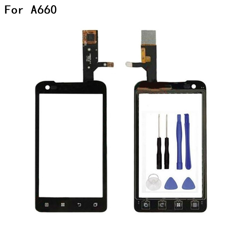 Original Touch screen Digitizer For Lenovo A660 Window Front Touchscreen Panel Sensor Glass Lens Replacement +Tools