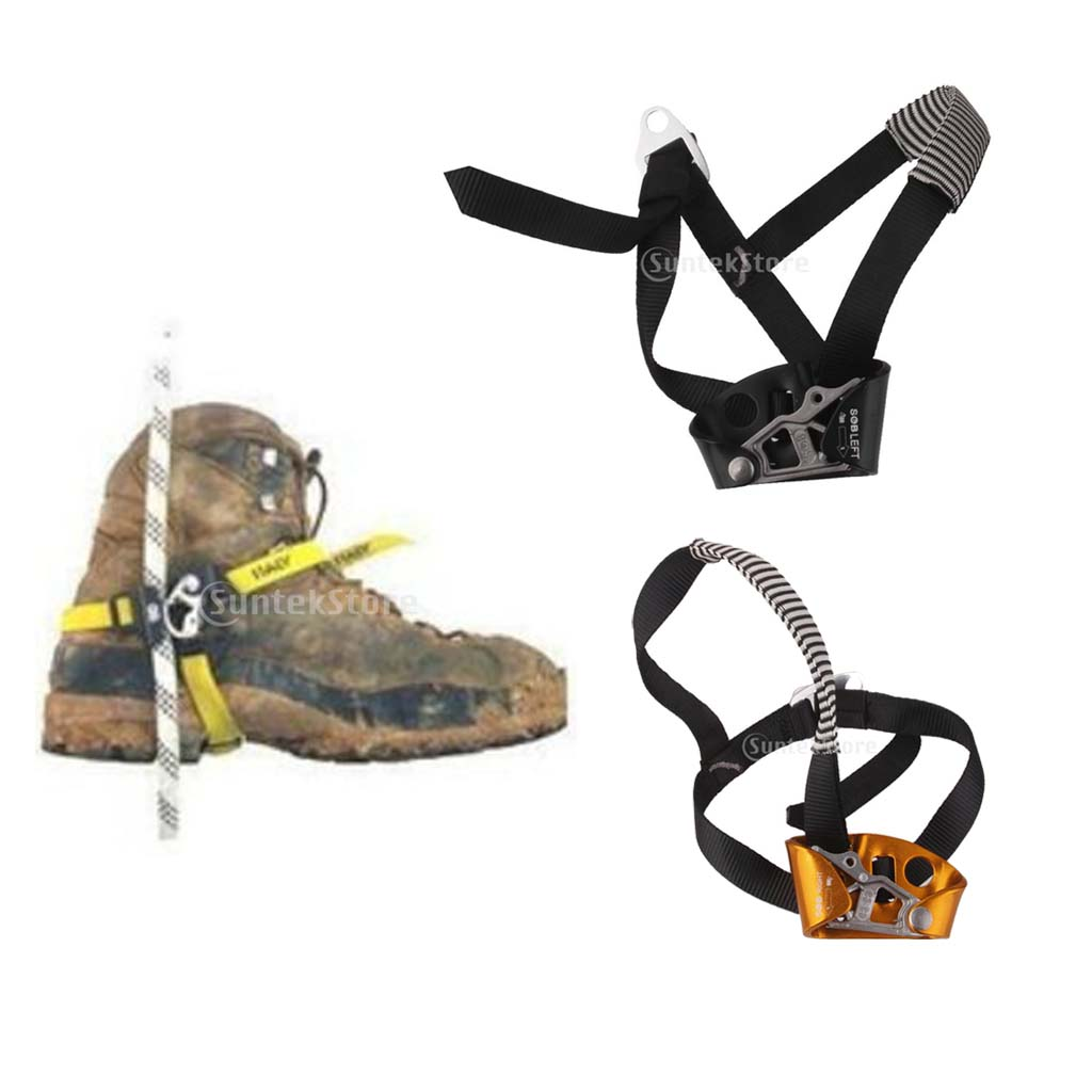 Safety Adults Left/Right Foot Ascender Riser Rock Climbing Mountaineering Safe Equipment Caving Ascenders Equipment
