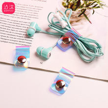Line Storage Clip Laser Snap Button Winder Portable Earphone Data Cable Buckle Storage Rack Organizer Fixed Fit Cable Wire Clips(China)
