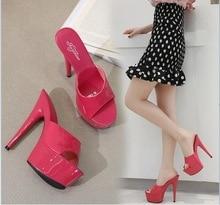6 Color Woman Wedding Shoes Sandals 2019 Nightclub Sexy High-heeled 15cm Shoes Slippers Heels Waterproof Sandal Summer Pumps
