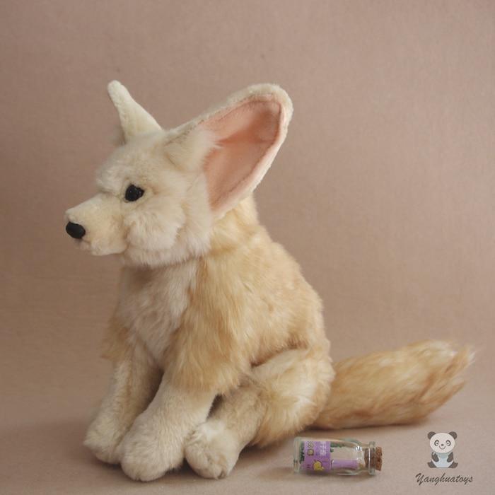 Silver Fox Stuffed Animal, Mainan Mewah Simulasi Hewan Rubah Boneka Anak Hadiah Mainan Telinga Besar Silver Fox Kualitas Baik Stuffed Plush Hewan Aliexpress
