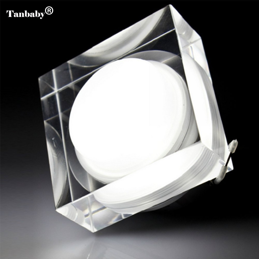 Downlights LED Crystal Square 1W 3W 5W 7W LED Downlight de techo - Iluminación interior