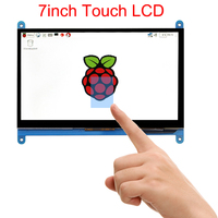 7 inch Raspberry Pi 3 B+ Touch Screen 1024*600 800*480 Capacitive Touchscreen LCD HDMI Interface TFT Display + Acrylic Holder