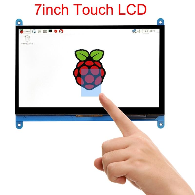 7 дюймов Raspberry Pi 3 B + Сенсорный экран 1024*600 800*480 емкостный сенсорный Экран ЖК-дисплей HDMI Интерфейс TFT Дисплей + акрил держатель
