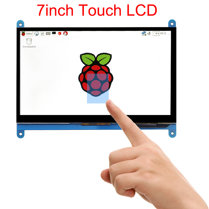 7 inch Raspberry Pi 3 B+ Touch Screen 1024*600 800*480 Capacitive Touchscreen LCD HDMI Interface TFT Display + Acrylic Holder 3 5 inch touch screen tft lcd 320 480 designed for raspberry pi rpi 2
