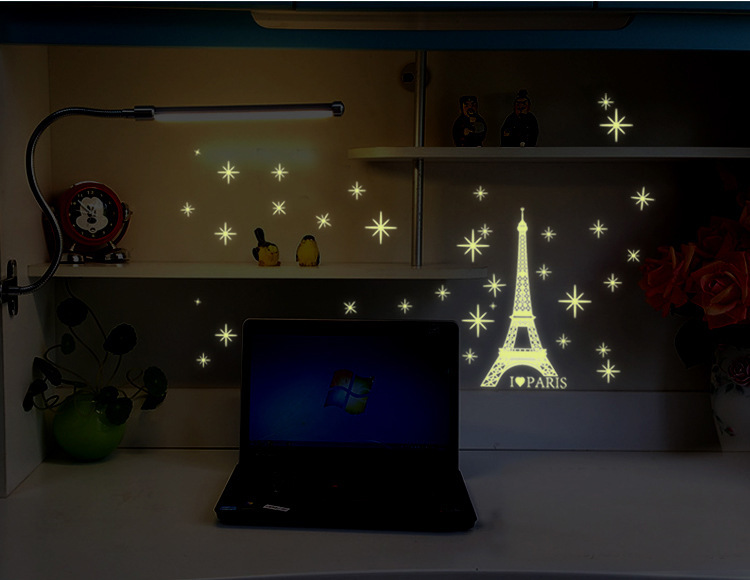 Online Shop Glow In The Dark Eiffel Tower Starlight I Love Paris Decals  Home Decor Wall Stickers For Living Room Free Shipping Y0034 | Aliexpress  Mobile Part 83