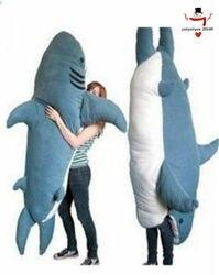 Giant Big Shark Slaapzak Zitzak Sofa Bed Pluche Zachte Gift Pull Over