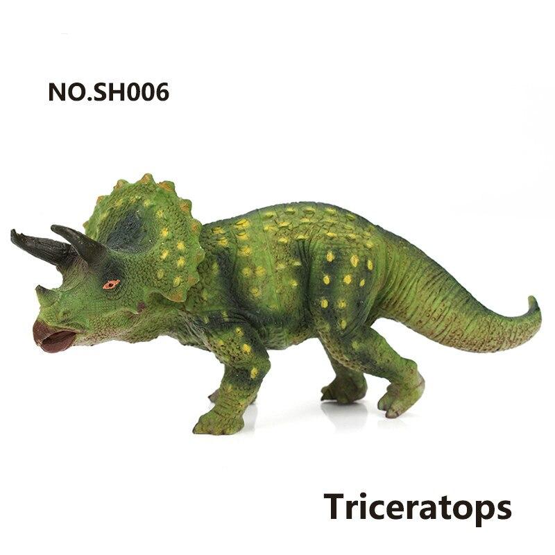 realiste en plastique petit dinosaure jouets animaux action figure jurassic triceratops modele