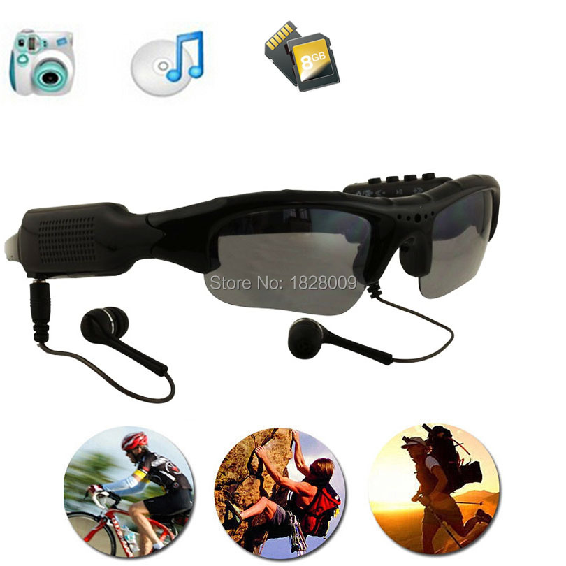 Eyewear Sunglasses Camera Support TF Card Music Video Recorder DVR DV MP3 Camcorder Music glasses with