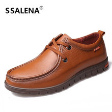 Genuine Leather Men Dress Shoes Formal Men Classic Casual Flats Business Loafers Gentleman Breathable Oxford Shoes AA50153