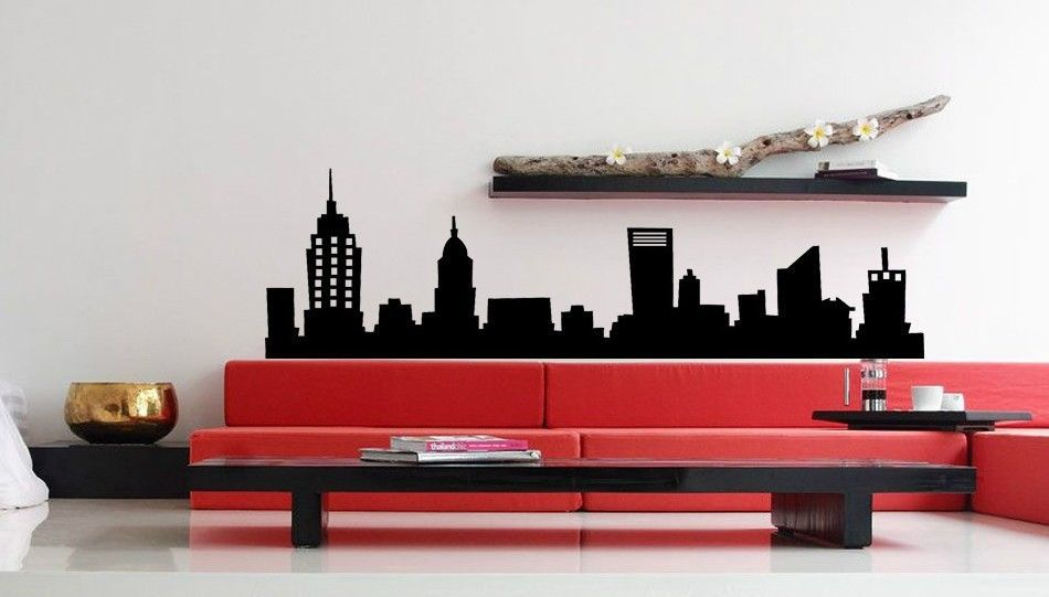 Aliexpress.com : Buy New New York City NYC Skyline Vinyl Wall Decal City  Design Building Mural Art Wall Sticker Bedroom Living Room Decoration From  Reliable ... Part 80