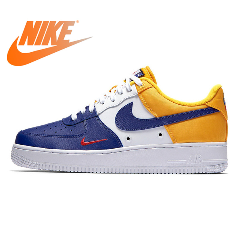 NIKE AIR FORCE 1 07 LV8 AF1 Stitching Small Hook Skateboarding Men's Skateboard Shoes Comfortable Outdoor Sneakers 823511