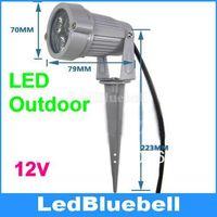LED Flood Light 3W DC12V Input Warm White Pure White Option Outdoor Garden Lamp Waterproof IP65