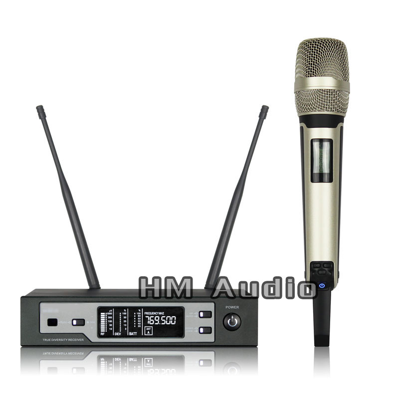 New High Quality Professional SKM9100 True Diversity Handheld Wireless Microphone professional lavalier clip microphone headset