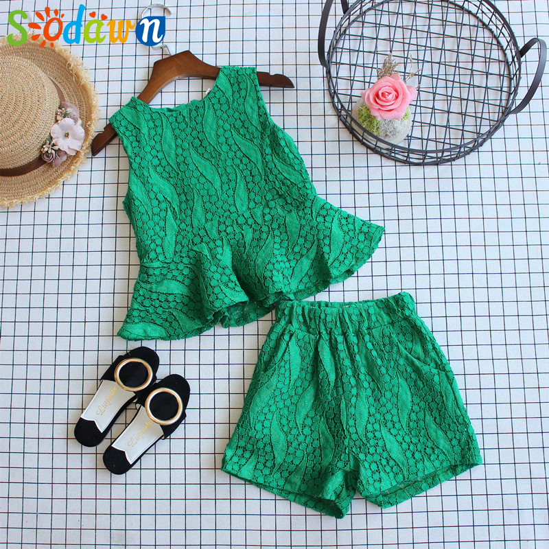 Sodawn Girls Clothing Set Baby Girls Clothes Summer New Stripe Design Tops+Pant 2Pcs Children Clothes Baby Clothes zutano unisex baby candy stripe pant