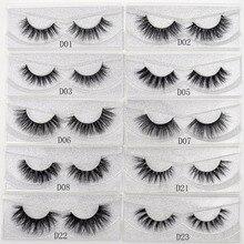 Extension naturelle 3D à paillettes, faux cils, fait à la main, 1 paire par boîte, maquillage, vison, regard sexy, D01