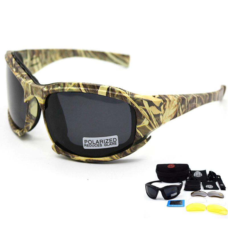 X7 Camouflage Tactical Glasses Military Airsoft Polarized Glasses Shooting Hunting Sunglasses With 4 Lens Cycling Sunglasses