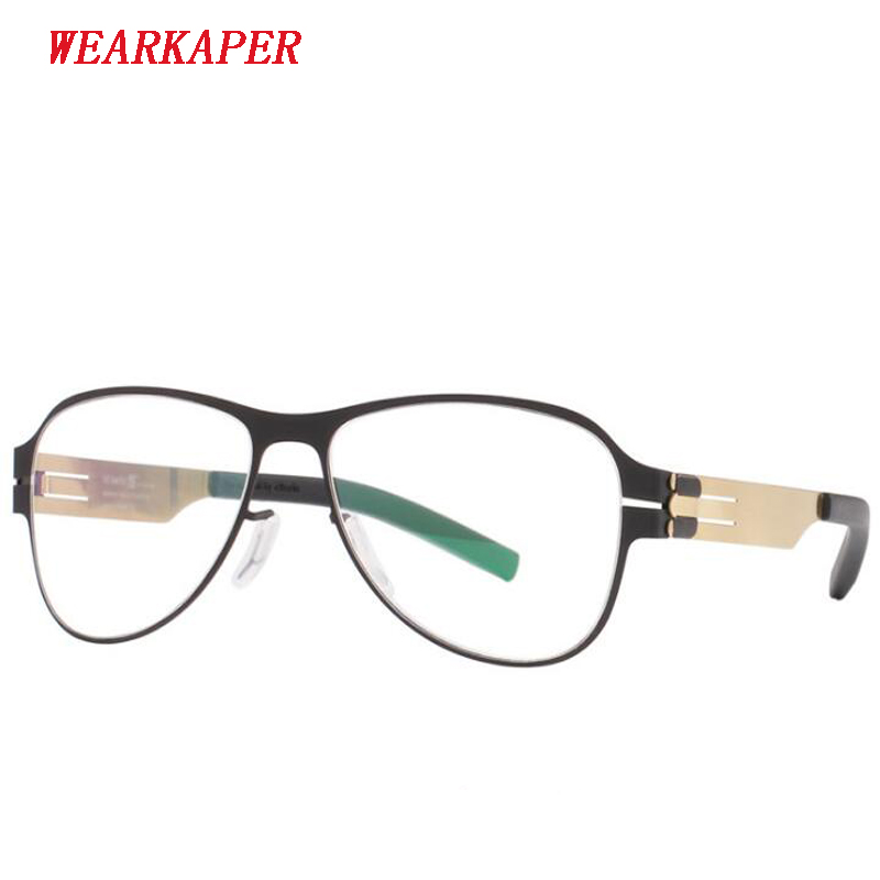WEARKAPER New Eyeglasses frame Women Round glasses frame ultra light slim men's myopia prescription glasses frame