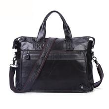 Men's Luxury Genuine Leather Handbag