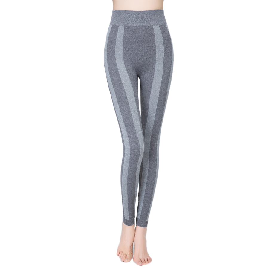 DISSIMILAR Womens High-Waist elastic seamless Striped leggings Bodybuilding Fashion Workout Fitness Clothing Jogger pants