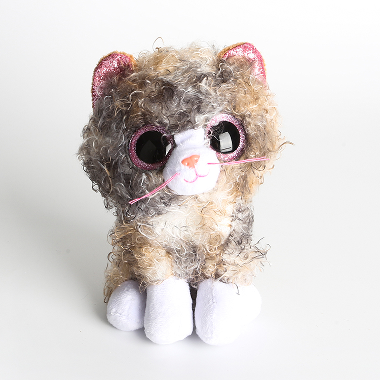 Ty Beanie Boos Stuffed & Plush Animals Scrappy The Curly Hair Cat Toy Doll 6