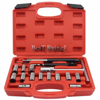 YY 17 PCS Diesel Injector Cleaner Clean Carbon Remover Seat Cutter Cutting Tool Set