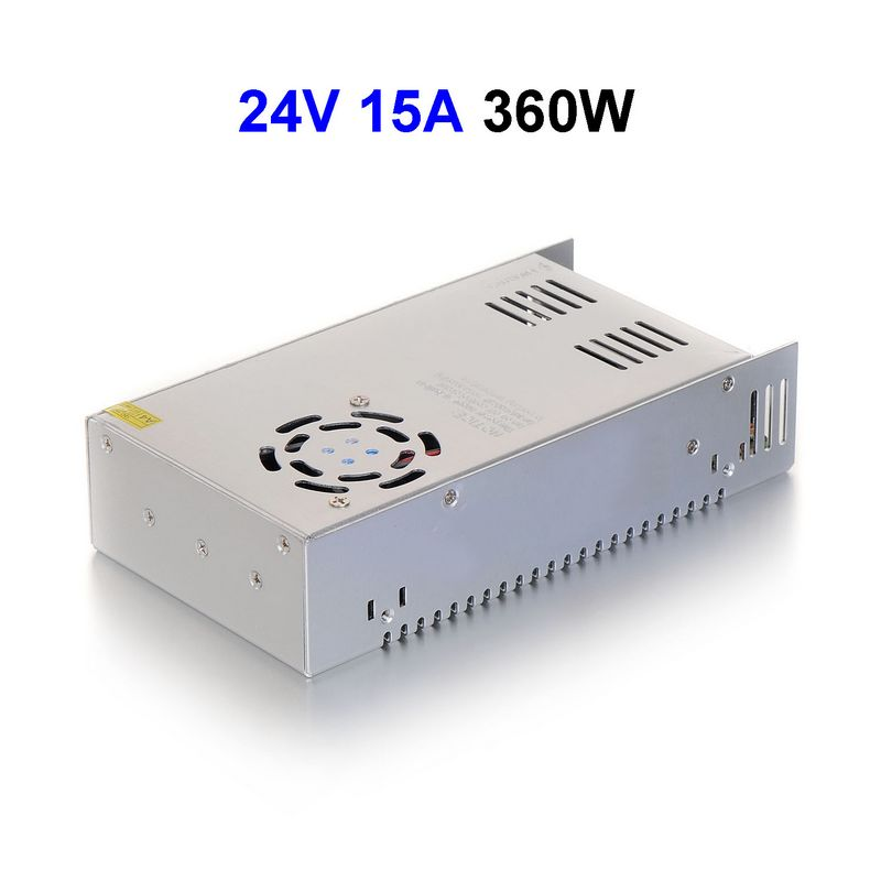 DC24V 15A 360W Switching Power Supply Adapter Driver Transformer For 5050 5730 5630 3528 LED Rigid Strip Light 5pcs dc5v 60a 300w switching power supply adapter driver transformer for 5050 5730 5630 3528 led rigid strip light