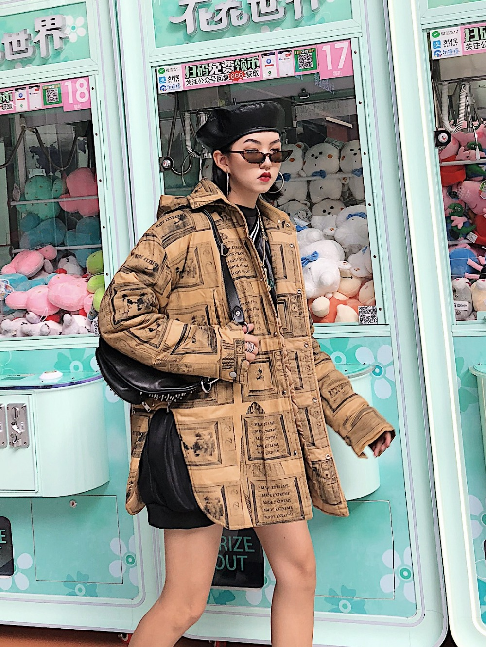 Coton Portent Les Au Capuchon Vent Résistant Vêtements Rue Amovible Hommes Rembourré Femmes Noir Manteau À jaune Et EwTBIX