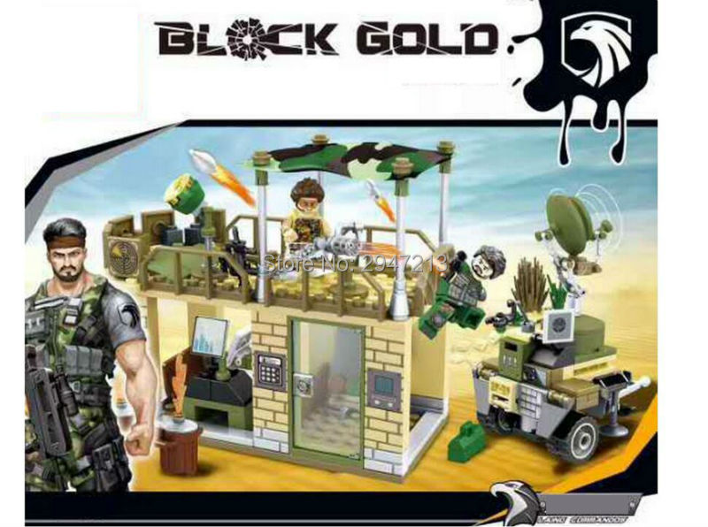 hot sembo block compatible lepin Military figures with weapon Building blocks Army War command post brick Toys for children gift hot sembo block compatible lepin architecture city building blocks led light bricks apple flagship store toys for children gift