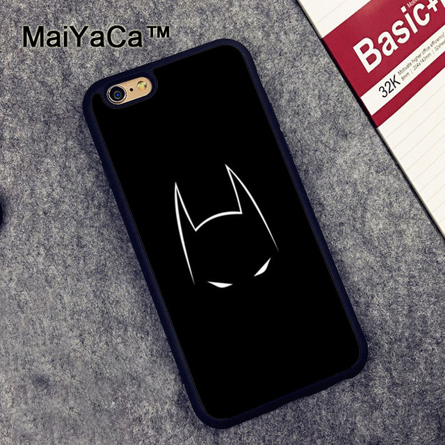 new style e9d23 87f49 US $4.12 10% OFF|MaiYaCa BATMAN MASK Cases For iPhone 6 6s Phone Case  Rubber Cover for iPhone 6s Cover Case Soft TPU Phone bag-in Fitted Cases  from ...