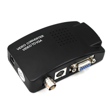 BNC VGA Composite S Video to VGA Converter Video Converter VGA Output Adapter Digital Switch Box for PC Mac TV Camera DVD DVR