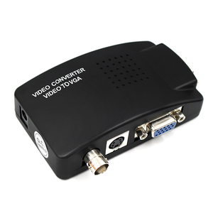 Image 1 - BNC VGA Composite S Video to VGA Converter Video Converter VGA Output Adapter Digital Switch Box for PC Mac TV Camera DVD DVR