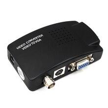 Convertidor de vídeo BNC VGA compuesto s video a VGA, adaptador de salida VGA, caja de interruptor Digital para PC, Mac, TV, cámara, DVD, DVR