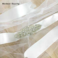 Charming Ivory Sparkly Crystal Bridal Belts Rhinestone Wedding Sashes 2018 Waistband ceinture femme strass Wedding Accessories