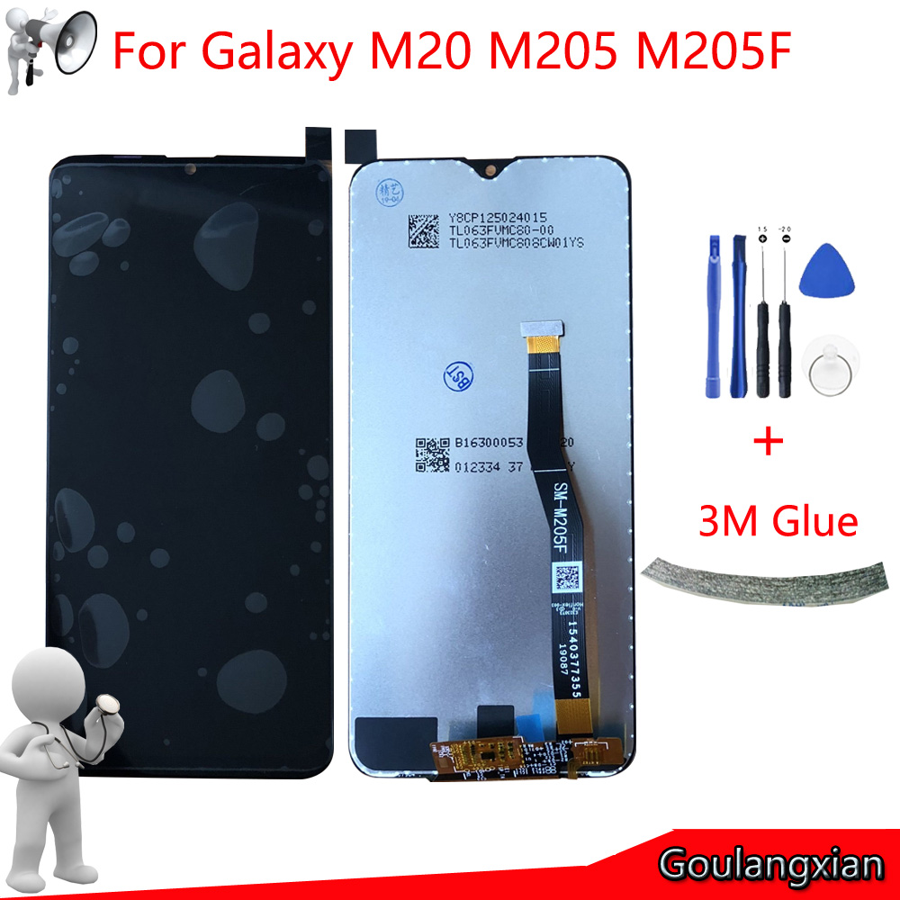 6.3 AAA Original LCD For Samsung Galaxy M20 M205 M205F SM-M205F/DS LCD Display + Touch Screen Digitizer Assembly Replace+Tools6.3 AAA Original LCD For Samsung Galaxy M20 M205 M205F SM-M205F/DS LCD Display + Touch Screen Digitizer Assembly Replace+Tools