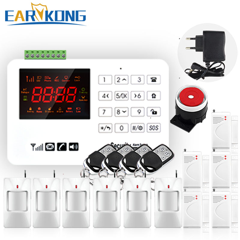 Hot Selling Free Shipping wholesale Wireless GSM Alarm System 433MHz Home Burglar Security Alarm System Touch Keyboard hot screen touch wireless gsm home security burglar alarm system with mobile app control free shipping
