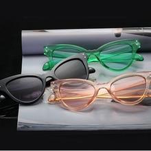 UV400 Sexy Ladies Cat Eye Sunglasses Women Vintage Brand Small Sun Glasses Female Oculos de sol