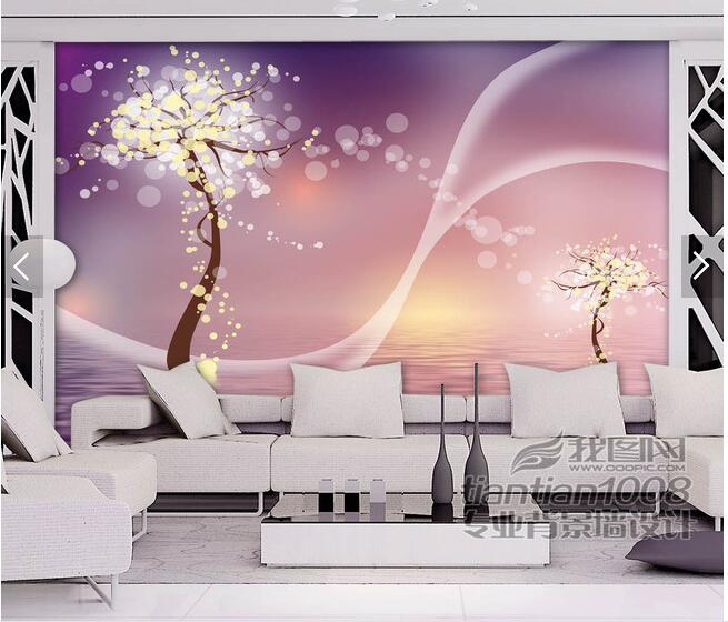 Modern minimalist living room TV sofa background wallpaper ...