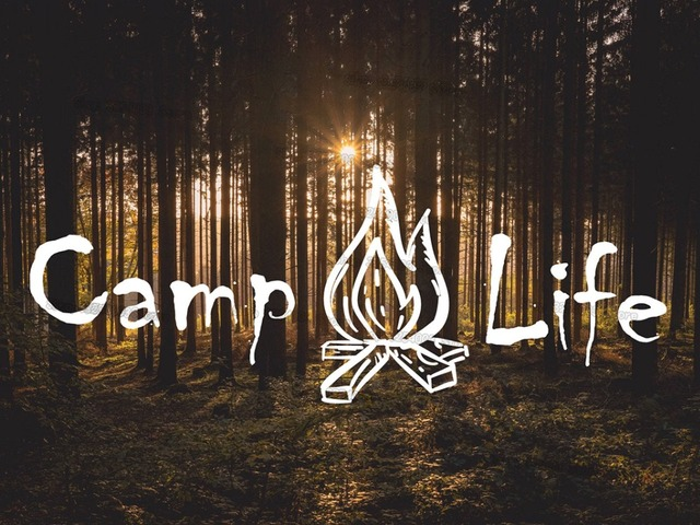 Camp Life Wall Decal with Campfire Hiking and Camping Outdoors Wall ...