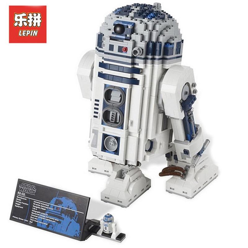 In Stock DHL Lepin Sets 05043 2127Pcs Star Wars Figures Robot R2-D2 Model Building Kits Blocks Bricks Kid Toys 10225 футболка классическая printio r2 d2 star wars dead star