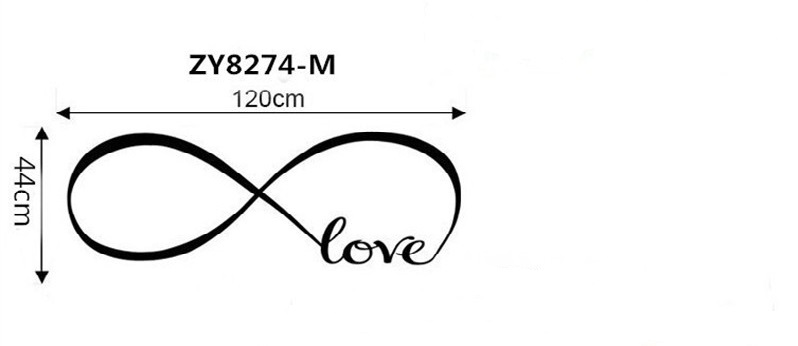 Personalized Infinity Symbol Love Bedroom Wall Sticker For Bedroom
