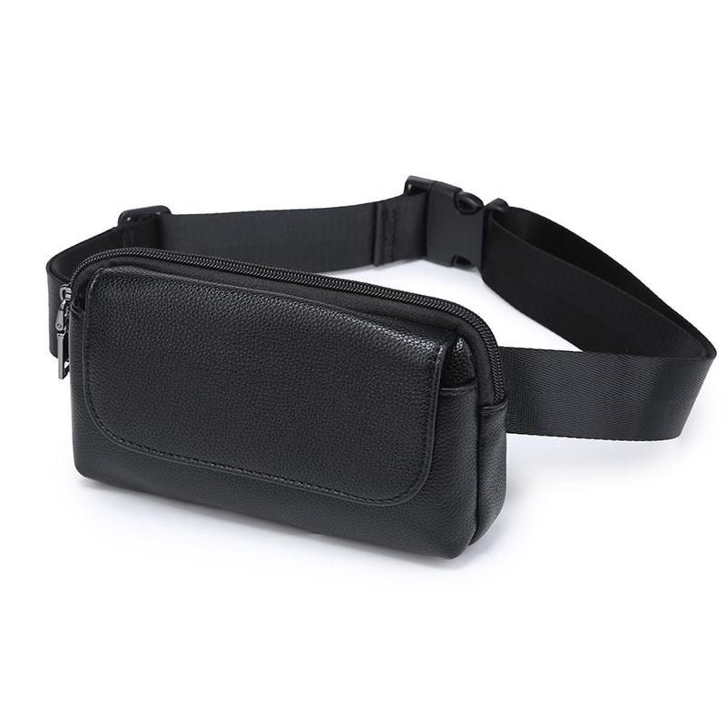 Для женщин Для мужчин талии сумка унисекс искусственная кожа личи шаблон поясная сумка Повседневное Малый Фанни пакеты сотовый телефон кош…
