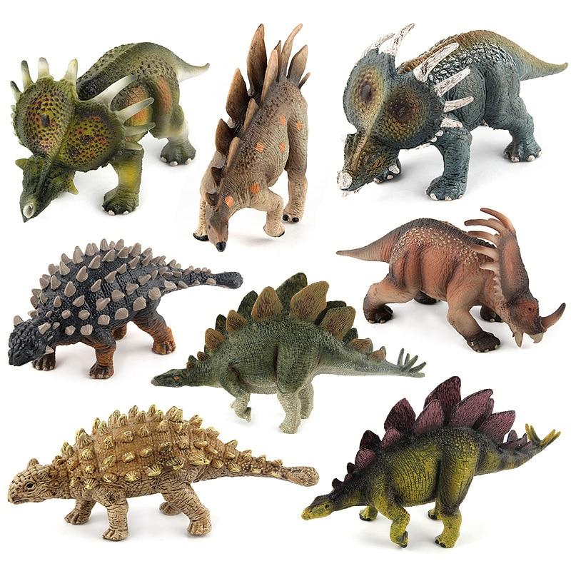 8 Styles Action Figure Plastic Jurassic Dinosaurs Saichania Stegosaurus Styracosaurus abou