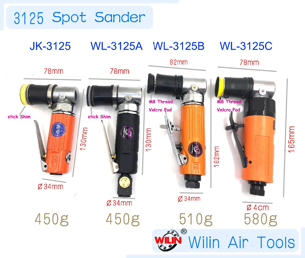 3125 Style Pneumatic Air Tools Right Angle 90 Degree Angle Mini Spot Repair Palm Orbital Sander Polisher 1 Inch Pad 30mm 25mm 5 inch 125mm pneumatic sanders pneumatic polishing machine air eccentric orbital sanders cars polishers air car tools