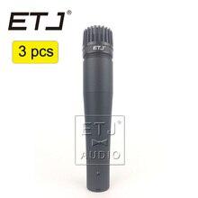 ETJ Marca 3 pcs Atacado de Alta Qualidade SM57LC Frete Chicotadas Vocal Dinâmico Karaoke Microfone Com Fio handheld Microfone SM57LC