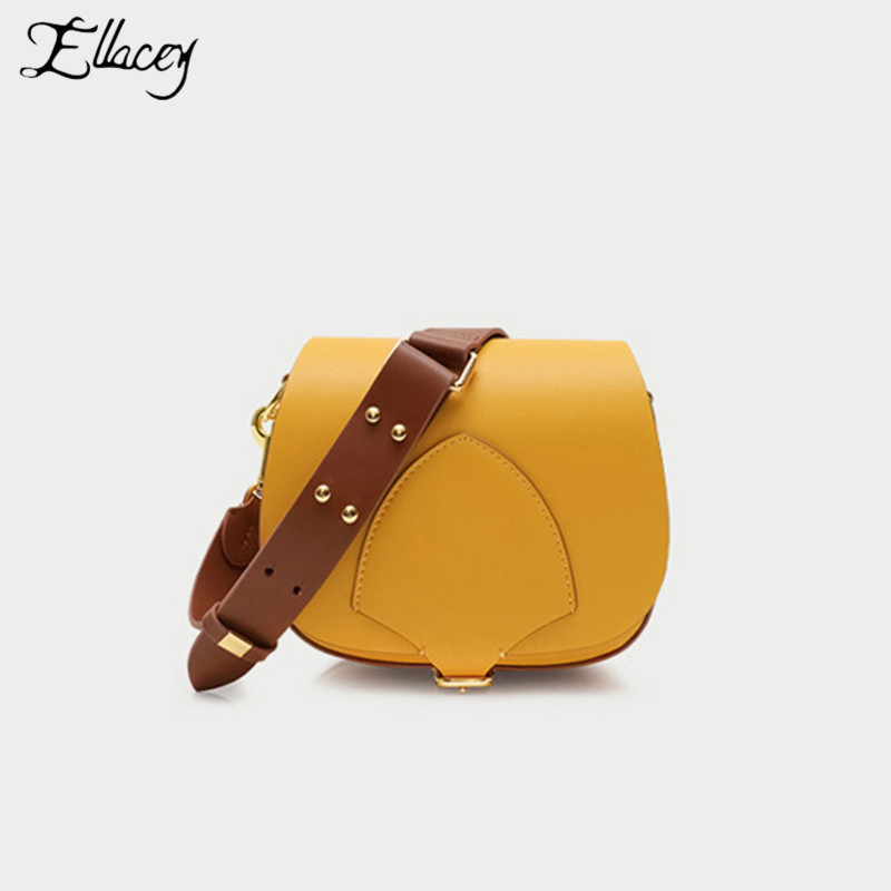 Luxury Solid Color Saddle Bag High Quality Genuine Leather LadiesHand Bags Shoulder Bag Cow Leather Crossbody Bag For WomenLuxury Solid Color Saddle Bag High Quality Genuine Leather LadiesHand Bags Shoulder Bag Cow Leather Crossbody Bag For Women