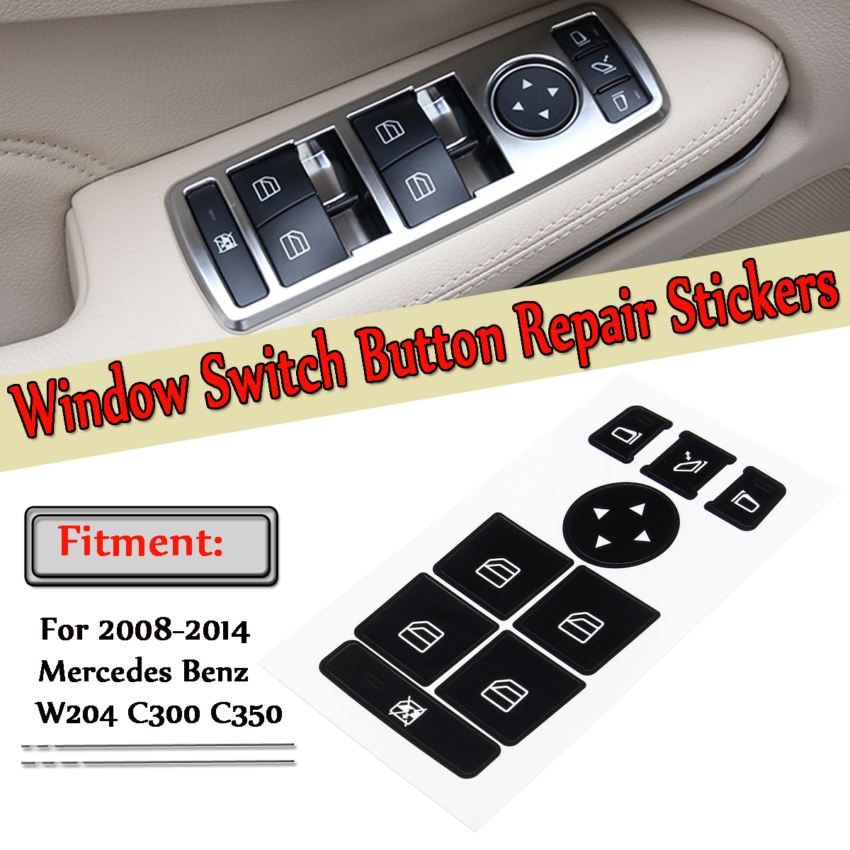 Fit Mercedes Benz C-Class W204 C250 C300 C35 Passenger Window Switch A2049058202