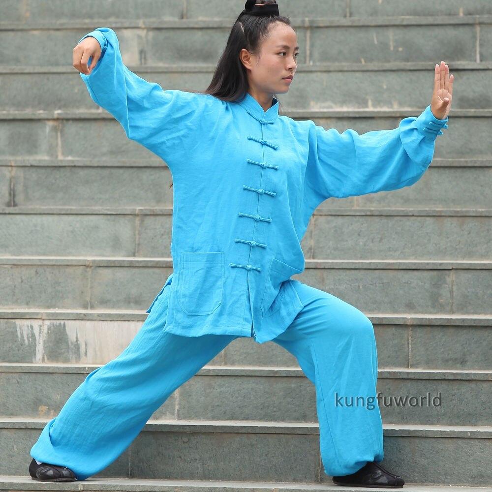 24 Цвета Для женщин тай-чи равномерное боевых искусств ушу Wing chun кунг-фу костюм