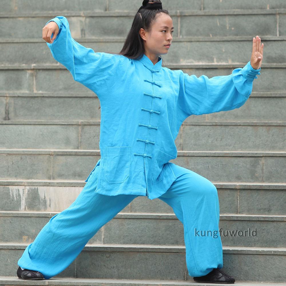24 Colors Women's Tai chi Uniform Martial arts Wushu Wing Chun Kung fu Suit black martial arts suit handmade linen tai chi uniform wushu kung fu wing chun uniform chinese style clothes meditation outwear